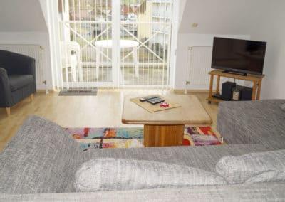 Stube mit Blick vom Sofa